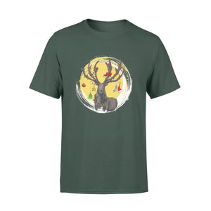Pemola - Reindeer T Shirt, Christmas T-shirt, Animal Shirt