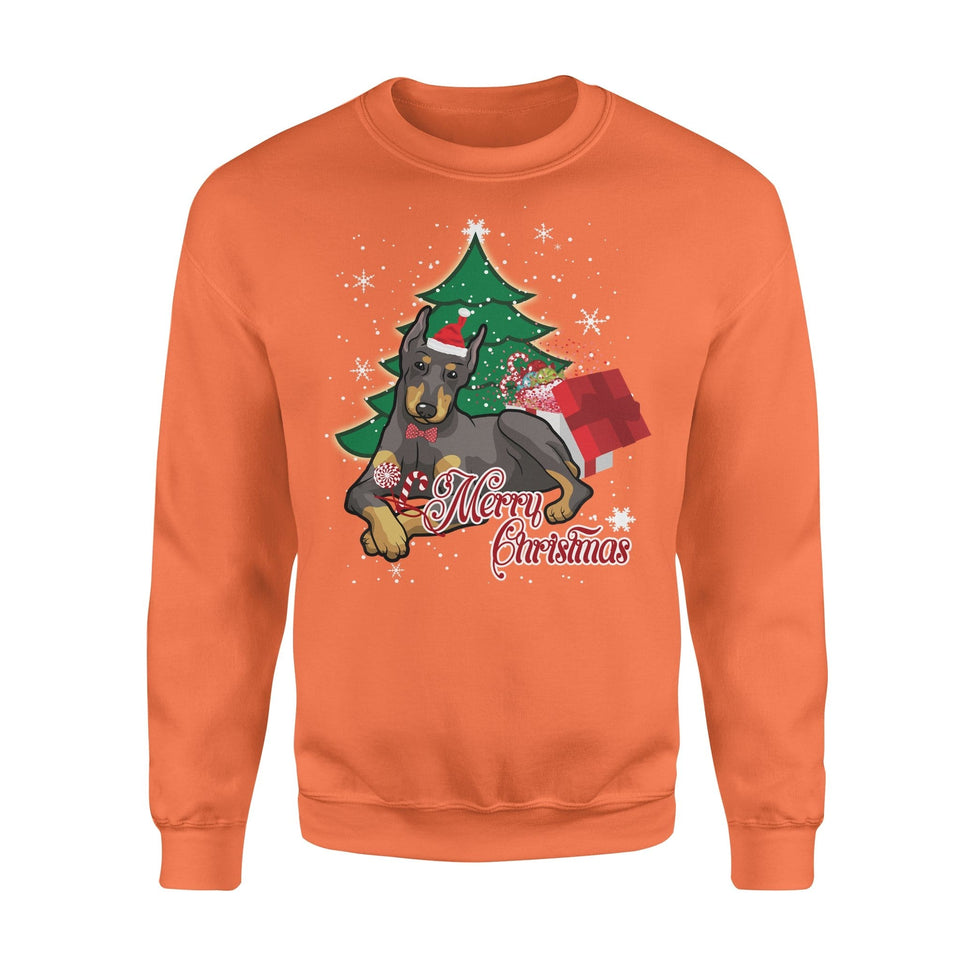 Pemola, German Pinscher Dog Christmas Sweatshirts, Sweatshirt