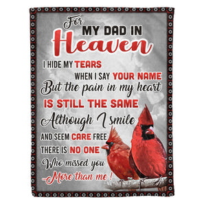 Pemola - Quotes Cardinal For Dad Blanket, Saying For Father Fleece Blanket