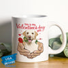 Pemola - Labrador Retriever Valentines Day Mug, Funny Mug for Valentines Day