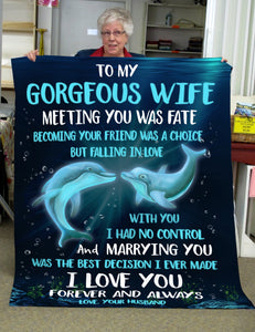 Pemola - Dolphin Lovers, Wife Gifts, Valentine's Day Fleece Blanket