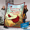Pemola - Cardinal Bird Quotes Fleece Blanket, red cardinal blanket, animal blankets