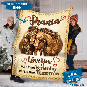 Pemola, blanket horse girl, personalized name blankets, gifts for him, custom blankets, fleece blankets, personalized gifts