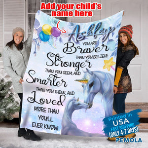 Pemola, Personalized Unicorn Blankets, Nice Birthday Gifts, Personalized Baby Blankets With Name, Fleece Blankets