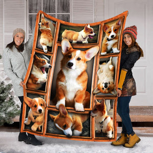 Pemola - Pembroke Welsh Corgi Dog Fleece Blanket, animal blankets, blanket gift
