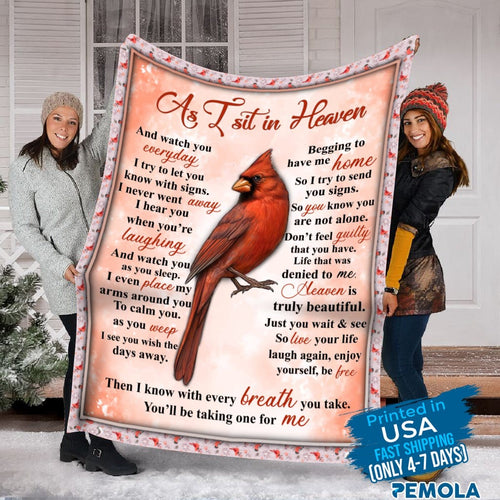 Pemola - Cardinal Bird Blanket, Cardinal Fleece Blanket Gifts, Saying Cardinal Blanket