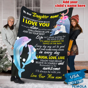 Pemola, dolphin blanket, personalized name blankets, custom name blanket, custom blankets, fleece blankets