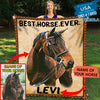 Pemola, blanket horse girl, personalized photo blankets, custom name blankets, fleece blankets, picture blankets