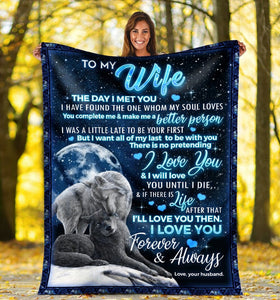 Pemola To My Wife Blanket, Gift For Wife, Husband To Wife, Fleece Blankets, Gift for Women