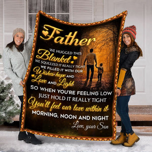 Pemola, Dad Fleece Blankets. Gifts for son. Gift for Kid. Birthday gift, Son Blanket, Father Blanket, Dad and Son Blanket