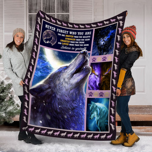Pemola, Wolf Native Fleece Blankets, Wolf 3D Blanket, Grey Wolf Blanket, Native American Blanket