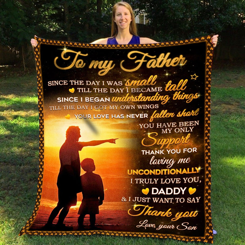 Pemola, Love your Son Fleece Blankets. Gifts for son. Gift for Kid. Birthday gift, Son Blanket, Father Blanket