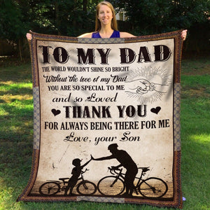 Pemola, Dad Fleece Blankets, Son blanket, bikecycle blanket, Gifts for Son, Gifts for kid, birthday gift
