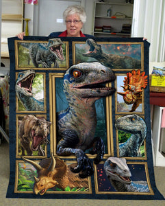 Pemola, best gifts under 50, dinosaur gifts, velociraptor blue, dinosaur bedroom decor, kids blankets, fleece blankets
