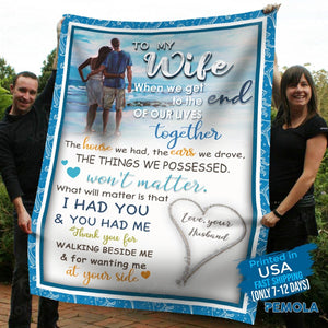 Pemola, to my wife fleece blankets, anniversary gift for wife, romantic gifts for her