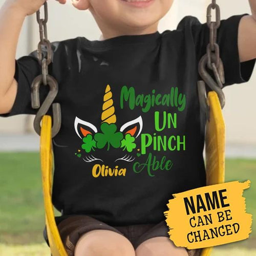 Pemola, Personalized gifts, St Patricks Day graphic tee, St Patricks Day Shirt, Unicorn Shirt For Girls