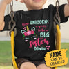 Pemola, Big Sister t shirt, Personalized Big Sister Shirts, Personalized Unicorn Big Sister Shirt, Shirts For Girls