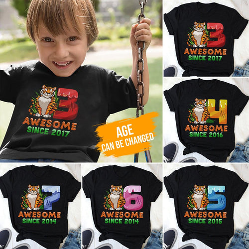 Tiger birthday shirt, birthday shirts, birthday girl shirt, birthday boy shirt, custom birthday shirts, custom t shirts