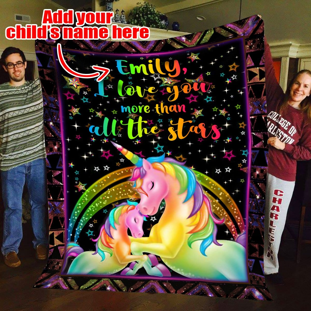 Pemola - Personalized Unicorn Blankets, unicorn gifts, Custom Blankets, Personalized gifts