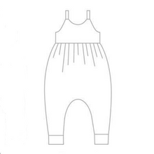 Load image into Gallery viewer, Starlit Whale Napa Romper