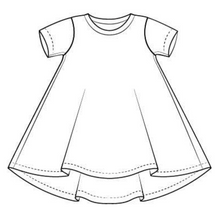 Load image into Gallery viewer, Marshmallow Dream T-Shirt Dress