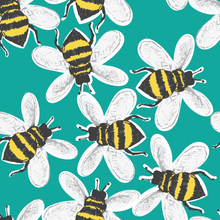 Load image into Gallery viewer, Turquoise Buzzy Bees Shorts