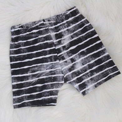 Distressed Stripe Shorts 3-6 Months