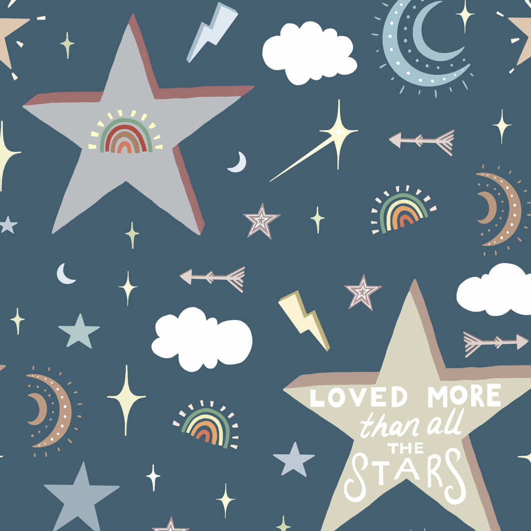 Loved More Than All The Stars Shortie Romper