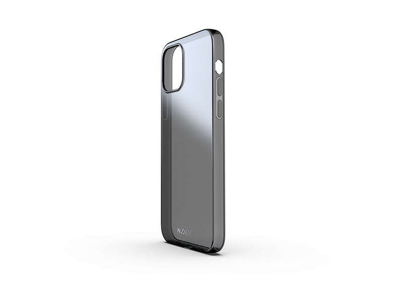 Thin glossy iPhone 12 Pro case - Black transparent