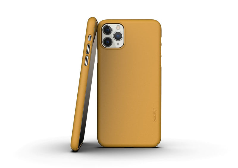 Nudient - Thin iPhone 11 Pro Max Case V3 - Saffron Yellow
