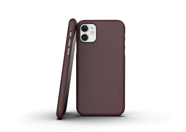 Nudient - Thin iPhone 11 Case V3 - Sangria Red