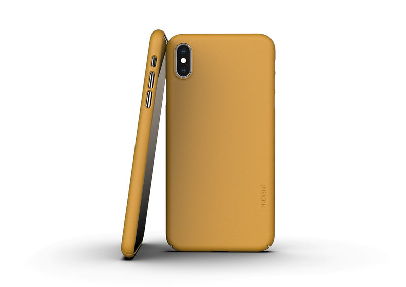 Nudient - Thin iPhone XS Max Case V3 - Saffron Yellow