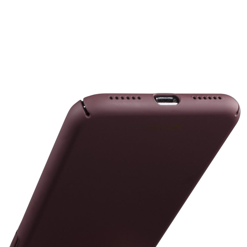 Thin iPhone X Case V2 - Sangria Red