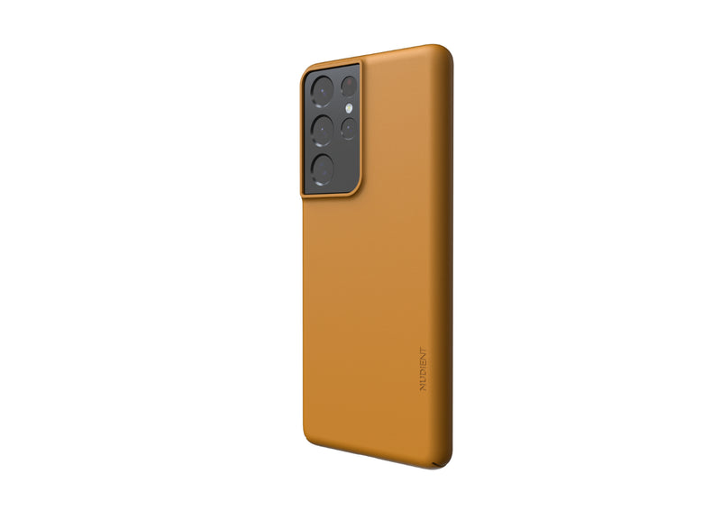 Nudient - Samsung S21 Ultra Case V3 - Saffron Yellow