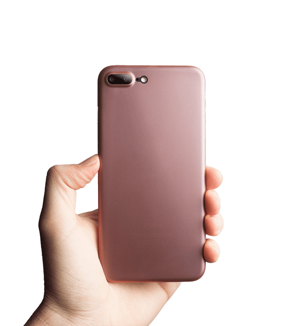 Super thin iPhone 7 plus case - Rosé transparent