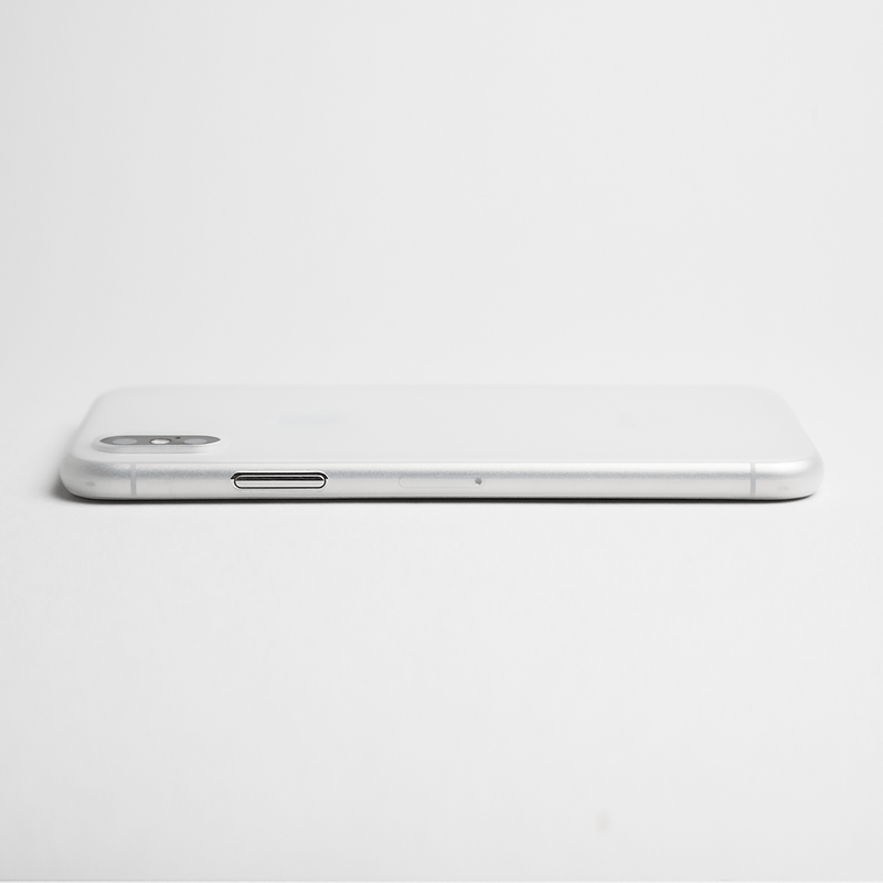 Super thin iPhone X case - Frosted transparent