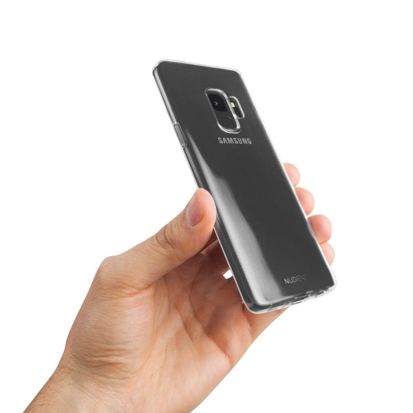 Thin glossy Samsung S9 case - 100% transparent