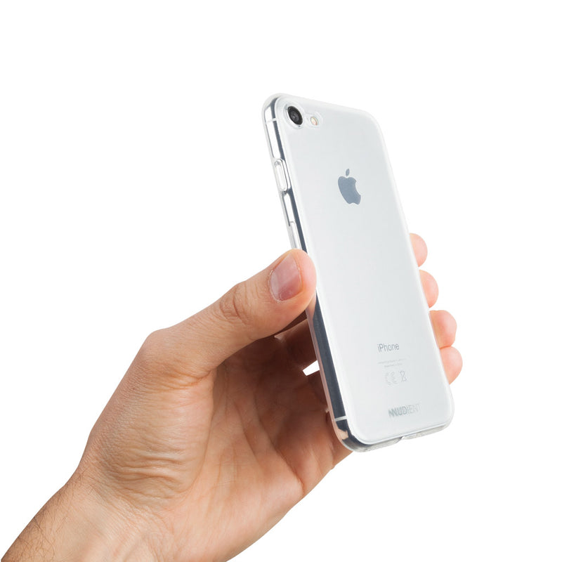 Thin glossy iPhone SE (2020) case - 100% transparent