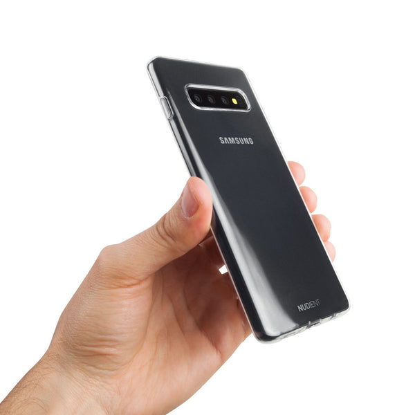 Thin glossy Samsung S10+ case - 100% transparent