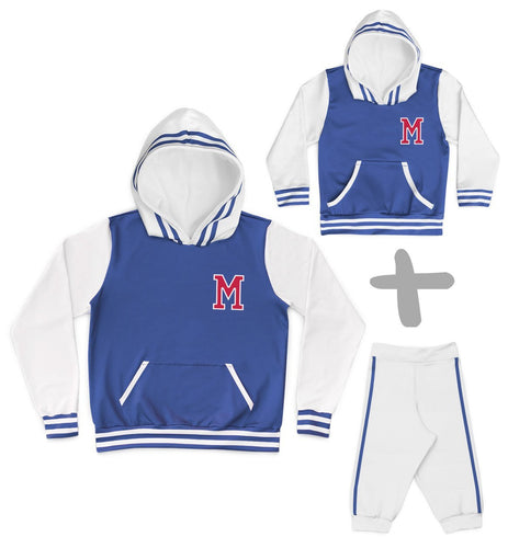 Tal Mãe Tal Baby Moletons College Azul Personalizados