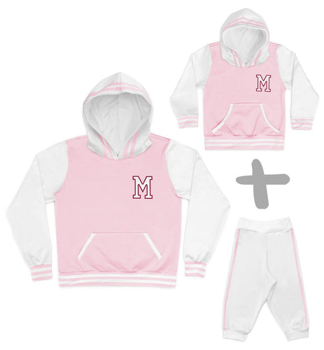 Tal Mãe Tal Baby Moletons College Rosa Personalizados