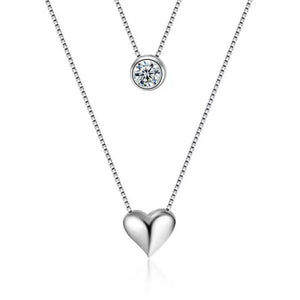 Beautiful double heart necklace