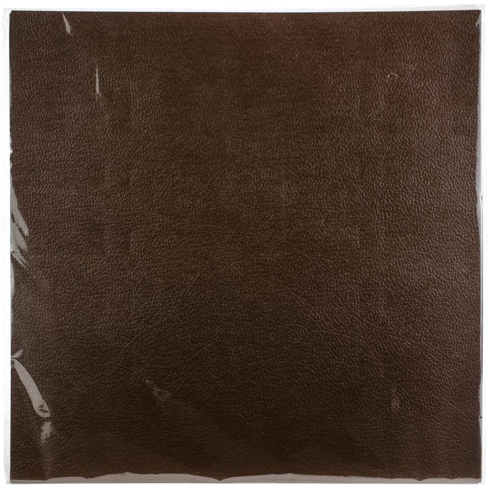 Prima Marketing-Memory Hardware Leather Texture Paper - Brown