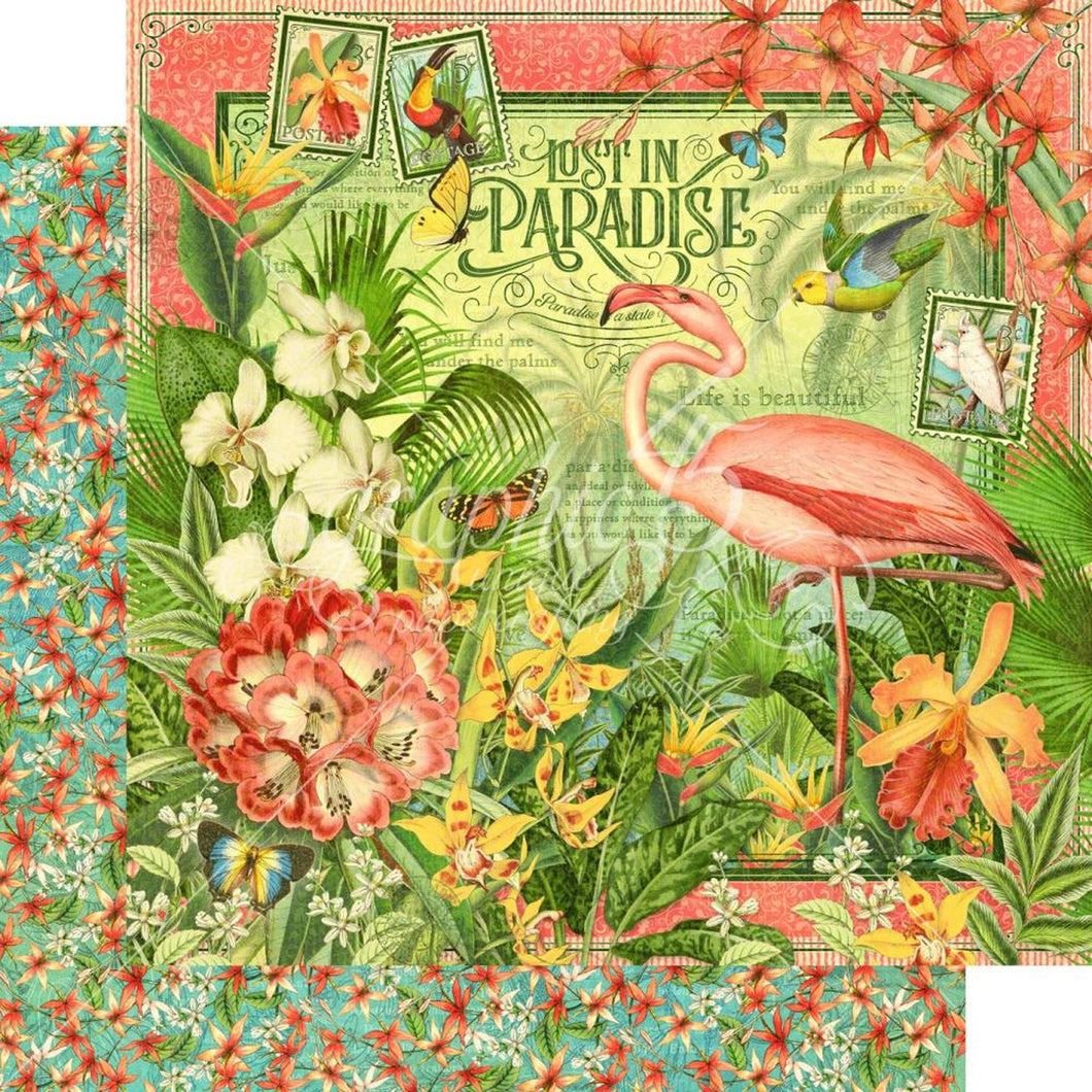 8X8 Paper Pad, Lost in Paradise