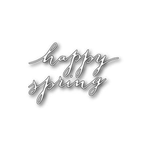 Freehand Happy Spring craft die