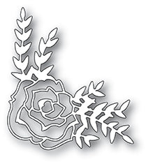 Country Rose Corner craft die