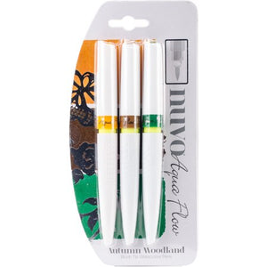 Nuvo - Aqua Flow Pens - Autumn Woodland