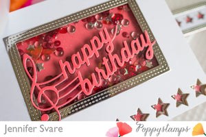 Musical Happy Birthday craft die