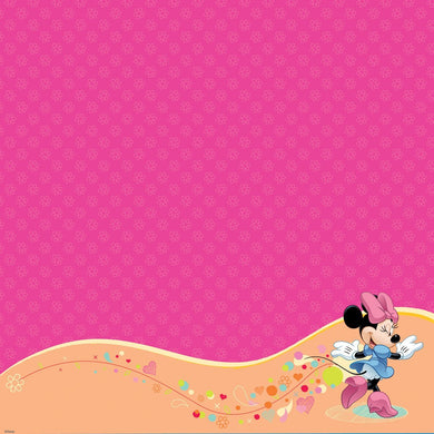 EK 12 x 12 in. Paper Disney Minnie Mouse Glitter Thermography