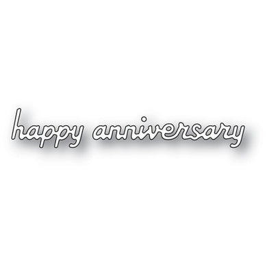 Simple Happy Anniversary craft die